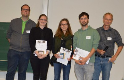Poster award winners together with the organizing committee
